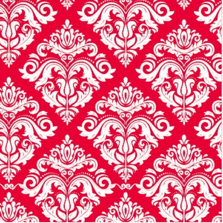 400 Hojas papel seda estampado damasco color rojo 62 x 86 cm