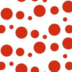 400 Hojas papel seda estampado lunares color rojo 62 x 86 cm