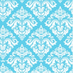 110 MTS x 62 CM ROLLO PAPEL DE SEDA AZUL COLOR PASTEL DECORADO/ ESTAMPADO DAMASCO