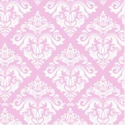110 MTS X 62 CM ROLLO PAPEL DE SEDA ROSA COLOR PASTEL DECORADO/ ESTAMPADO DAMASCO