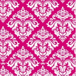 110 MTS X 62 CM ROLLO PAPEL DE SEDA ROSADO FUCSIA DECORADO/ ESTAMPADO DAMASCO