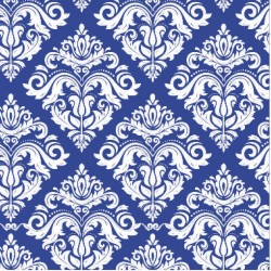 110 MTS X 62 CM ROLLO PAPEL DE SEDA AZUL REFLEX BLUE DECORADO/ ESTAMPADO DAMASCO