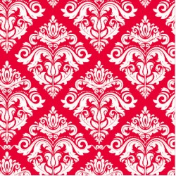 110 MTS X 62 CM ROLLO PAPEL DE SEDA ROJO DECORADO/ ESTAMPADO DAMASCO