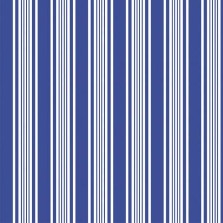 110 MTS X 62 CM ROLLO PAPEL DE SEDA AZUL REFLEX BLUE DECORADO/ ESTAMPADO RAYAS