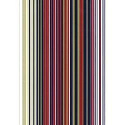 110 Mts x 60 cm Bobina de Papel de Regalo Rayas Burdeos, Azul, Oro - Clásico Elegante