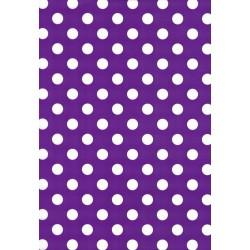 110 Mts x 60 cm Bobina de Papel de Regalo Lunares Lila / Purpura