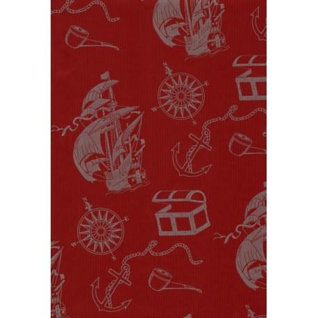100M x 35cm Bobina Kraft Rojo decorada
