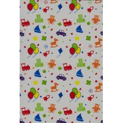 110 Mts x 30 cm Bobina papel de regalo decorada infantil