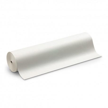 110 Mts x 60 cm Bobina de Papel de Regalo blanco kraft verjurado
