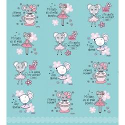 110 Mts x 60 cm Bobina Papel de Regalo Color rosa / fucsia