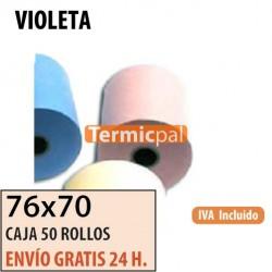 50 ROLLOS DE PAPEL HYDRO 76x70 VIOLETA