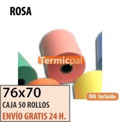 50 ROLLOS DE PAPEL HYDRO 76x70 ROSA