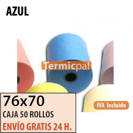 50 ROLLOS DE PAPEL HIDROFIX 76x70 AZUL