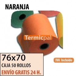 50 ROLLOS DE PAPEL HIDROFIX 76x70 NARANJA