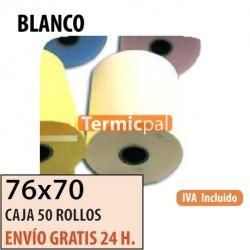 50 ROLLOS DE PAPEL HIDROFIX 76x70 BLANCO