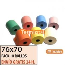 10 ROLLOS HIDROFIX 76x70 (COLOR A ELEGIR)