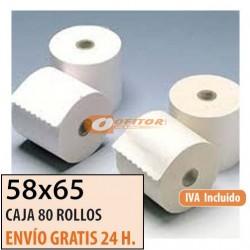 80 ROLLOS DE PAPEL OFFSET 58X65