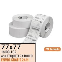 77X77 - 18 Rollos Etiquetas Térmicas