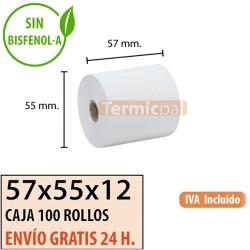 100 ROLLOS TÉRMICOS 57X55