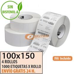 100X100 - 6 Rollos Et. Térmicas Protegidas