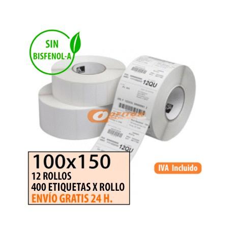 100X150 - 4 Rollos Etiquetas Térmicas