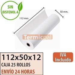 30 ROLLOS DE PAPEL TÉRMICO 110X55X12