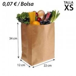 700 BOLSAS DE PAPEL 22+12x34 KRAFT SIN ASA