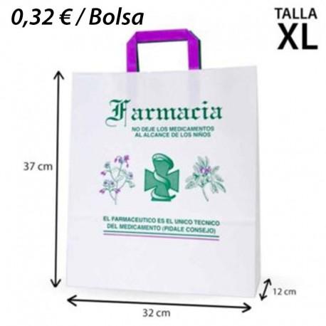 125 BOLSAS DE PAPEL 32+12x37 FARMACIA