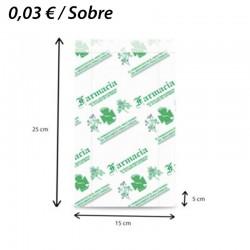 1000 SOBRES DE PAPEL 15+5x25 FARMACIA