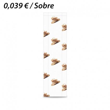 1000 SOBRES DE PAPEL KRAFT 15+5x55 PANADERIA