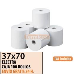 100 ROLLOS DE PAPEL OFFSET 37X70