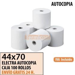 100 ROLLOS DE PAPEL COPIATIVO 44x70