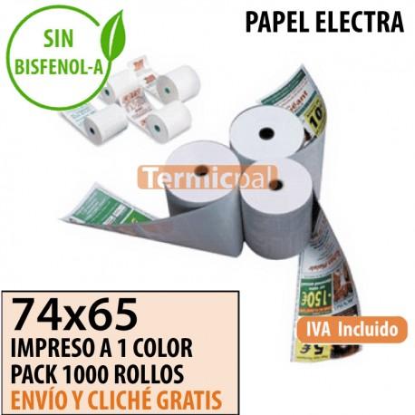 1000 ROLLOS ELECTRA 74X65 PERSONALIZADOS