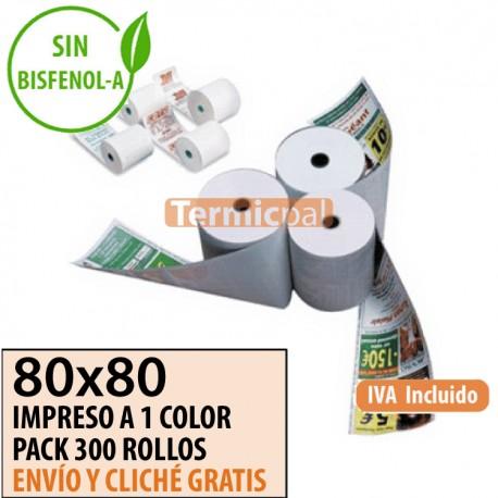 300 ROLLOS TÉRMICOS 80X80 PERSONALIZADOS