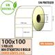 100x100 - 5 Rollos Etiquetas Térmicas PROTEGIDAS